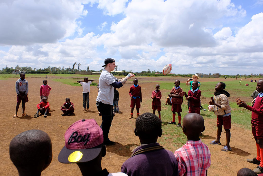 Kenya 2017 : Teaching the children the best game ever invented!