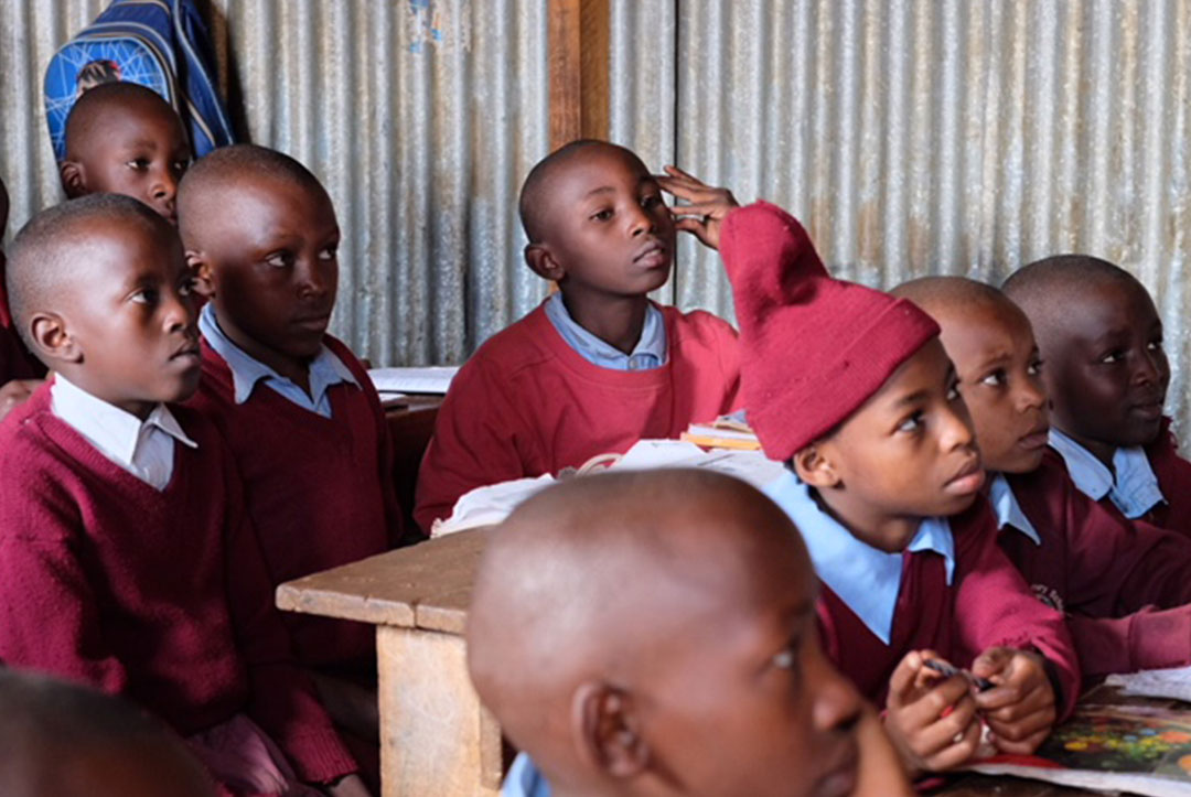 Kenya : September 2018 : Paying close attention to teacher