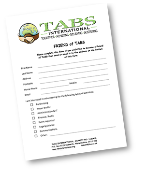 TABS International Donation form