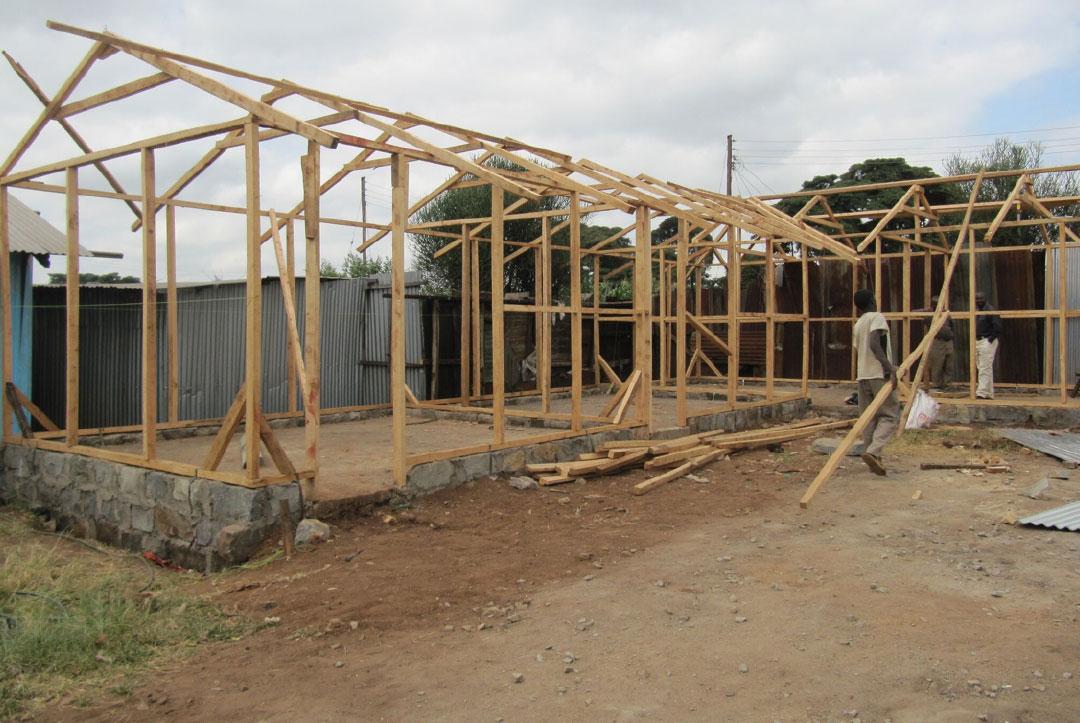 Kenya 2013 : Ceiling beams on