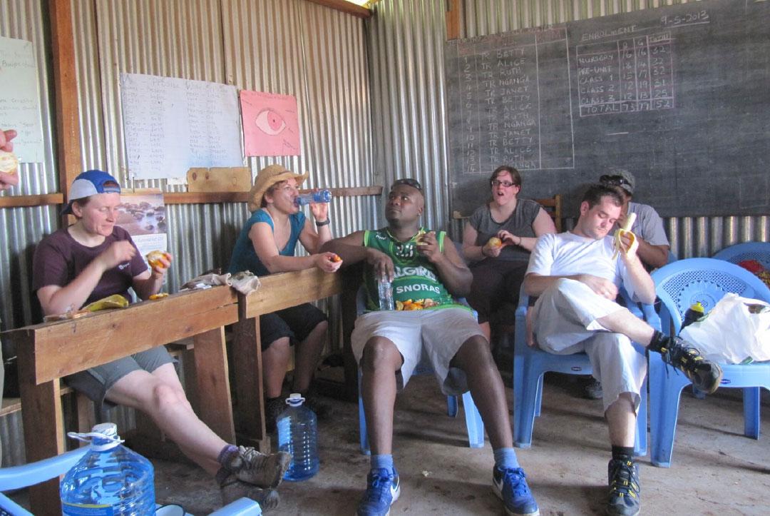 Kenya 2013 : Taking a well earned break – it was HOT!