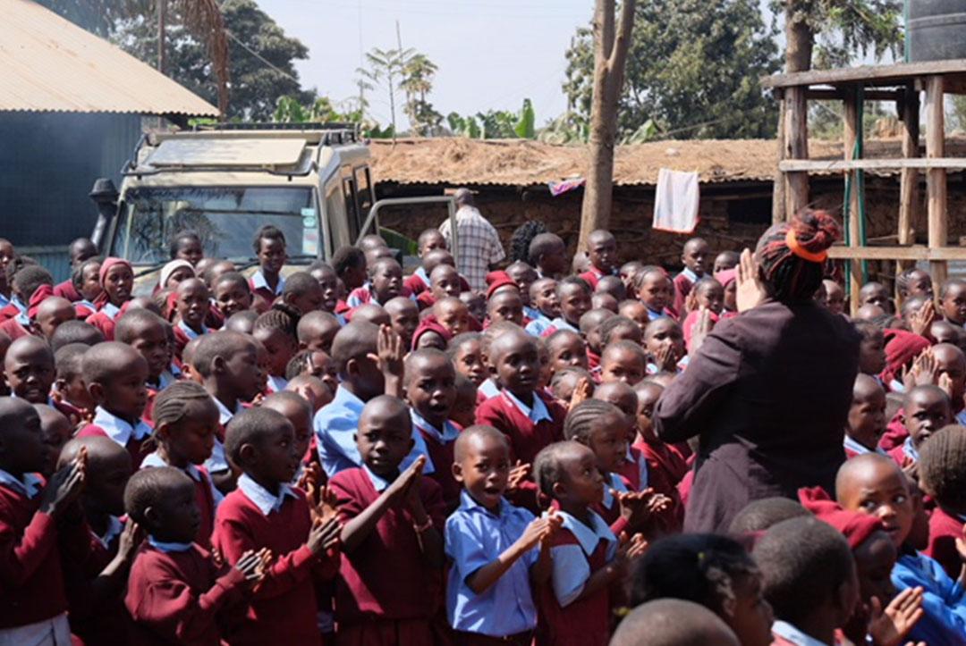 Kenya : September 2018 : Whole school sing along